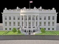 washington white house 3d x