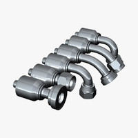 hydraulic fittings 3d model