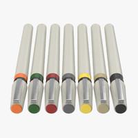 3d artist pens 01 model