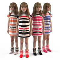 fashion child dressed 3d max