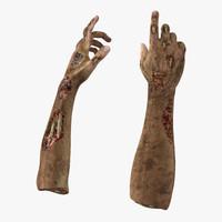 zombie hands pose 4 3d model