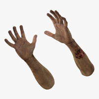 zombie hands pose 3 3d 3ds