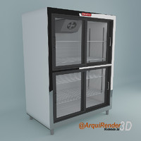 Glass 4 doors merchandisers