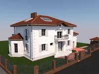 3d model classic house