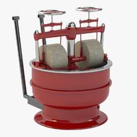 3d model chocolate grinder