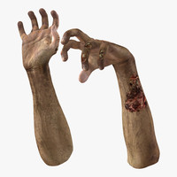 Zombie Hands Rigged
