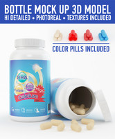 3d plastic bottle pills
