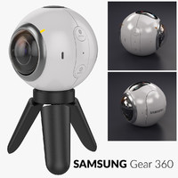 samsung gear 360 camera tripod 3d model