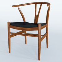 3d wishbone leather chair