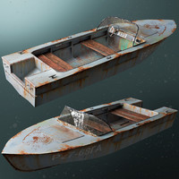 old boat 3d max