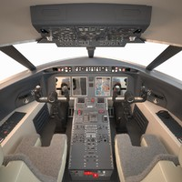 Challenger Bombardier Cockpit