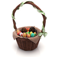 3d model easter basket