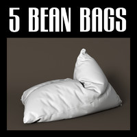 3d model bean bag