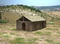 3d model stone chapel