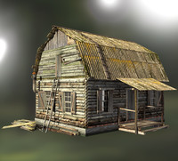 max old wooden house