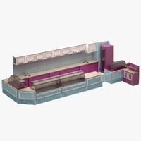 3d bar set model