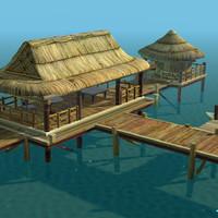 3d model bungalow -
