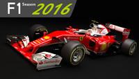F1 Ferrari SF16 H 2016