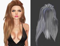 hair 2 3d obj