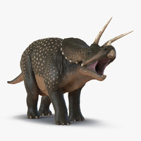 3d model triceratops pose 2