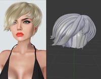 3d model hair dae
