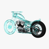 motorcycle x-ray 3d max