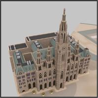 3d max rathaus building vienna