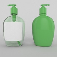 soap bottle 3d obj