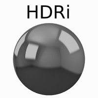 HDRi Rendered Three-Point studio light setup HDR image
