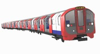 3d london metro train exterior