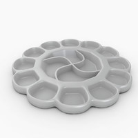 paint mixing tray 3d model