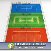 3d tennis court stadium arena model