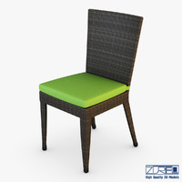 3d model of rexus chair brown v