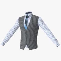 vest shirt 3d model