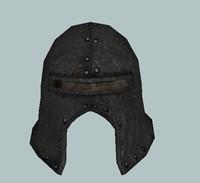 3d model of orc infantry helmet