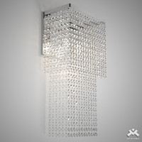 3ds realistic crystal sconce art