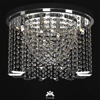 realistic crystal chandelier art 3d model