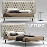 bed natuzzi dolcevita 3d model