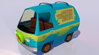 3d cartoon van