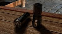 3d model tactical flashlight