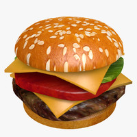 hamburger 3d model