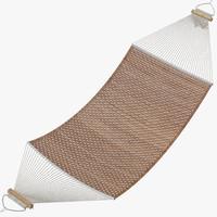 3d model of hammock rattan