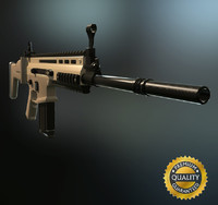 FN Scar H - Highpoly and Lowpoly