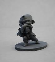 3d model samurai baby