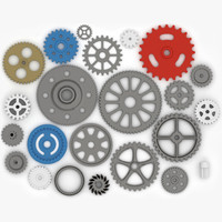 3d gear wheels model