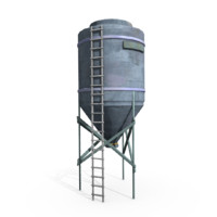 water tower obj