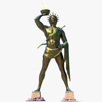 3d ancient colossus rhodes model