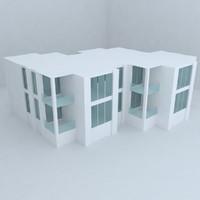 3d villa street architecture model