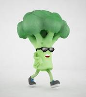 3d model broccoli character