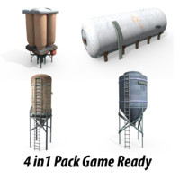 water tower tank 3d obj